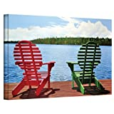 Art Wall 30 by 48-Inch Dockside Gallery Wrapped Canvas Art by Ken Kirsch