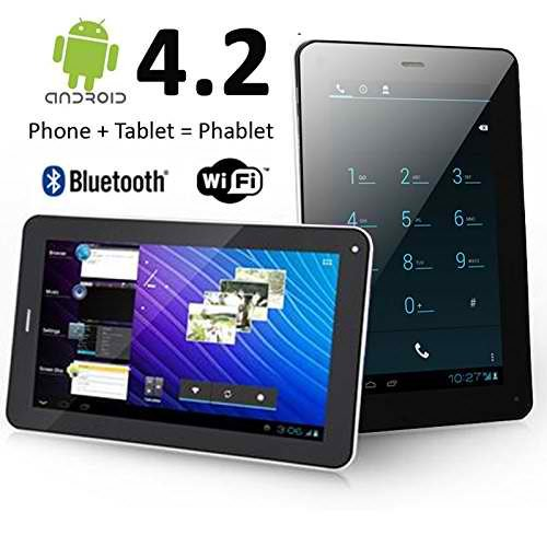 7''Inch Unlocked Phablet Smart Phone + Tablet Pc Dual Core Cpu Android 4.2 Flash Light Camera,Bluetooth Gps Wifi !