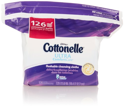 Cottonelle Ultra Comfort Care Cleansing Cloths Refill, 126 Count