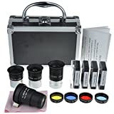 Gosky Astronomical Telescope Accessory Kit - with Telescope Plossl Eyepieces Set, Filter Set, 2X Barlow Lens (Color: Telescope Accessory Kit - With Telescope Plossl Eyepieces Set, Filter Set, 2x Barlow Lens)