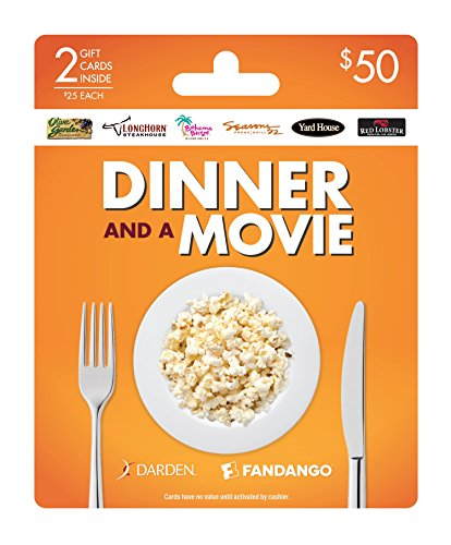 Darden-Fandango Dinner and a Movie, Multipack of 2 - $25