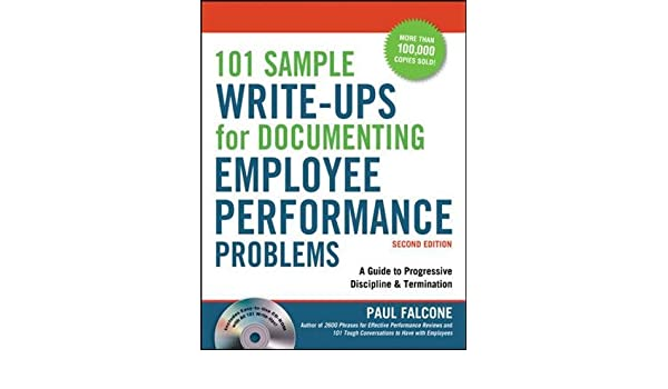 Buy 101 Sample Write-Ups for Documenting Employee Performance ...