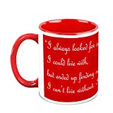 Valentine Day Gifts HomeSoGood Spread Love On Valentine's Day White Ceramic Coffee Mug - 325 Ml