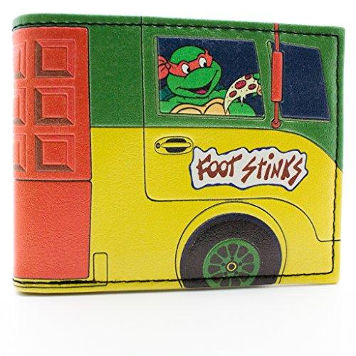 Mirage Teenage Mutant Ninja Turtles Pizza Van Multicolore portafoglio