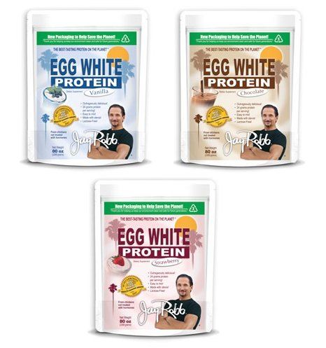 Jay Robb 80Oz Egg White Protein Variety Pack - 3 Flavors