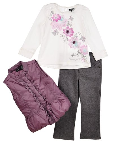 "Calvin Klein ""Lilac Garden"" 3-Piece Outfit (Sizes 4 - 6X) - assorted colors, 5"