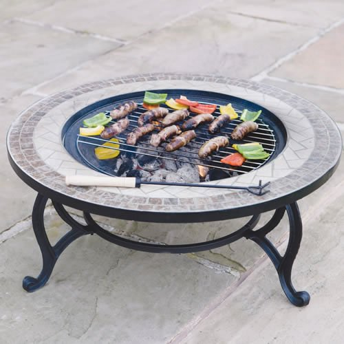 Fire Pit (76cm) And Coffee Table -