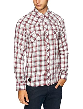 O'Neill - Chemise - Homme - Rouge (Red All Over Print) - FR : Small (Taille fabricant : Small)