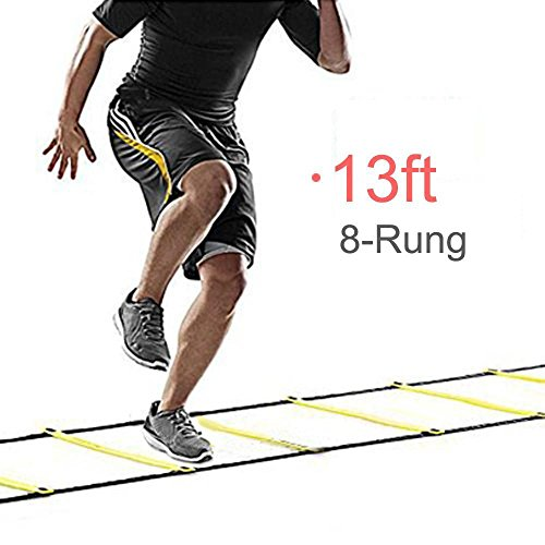 Yaheetech 13ft 8-rung Sports Agility Ladder For Speed/Soccer Fitness Feet Training