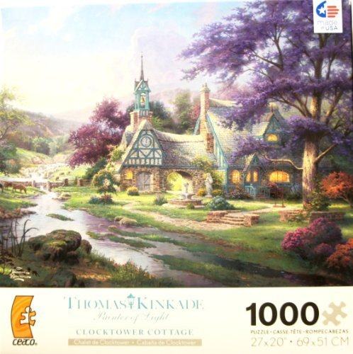 THOMAS KINKADE Painter of Light CLOCKTOWER COTTAGE 1000 Piece Jigsaw Puzzle
