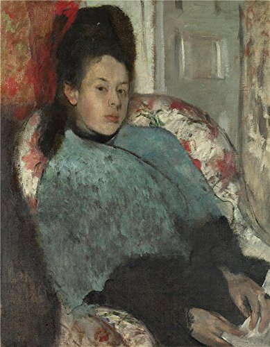 The High Quality Polyster Canvas Of Oil Painting 'Hilaire Germain Edgar Degas Portrait Of Elena Carafa ' ,size: 12 X 15 Inch / 30 X 39 Cm ,this High Quality Art Decorative Prints On Canvas Is Fit For Powder Room Decoration And Home Artwork And Gifts