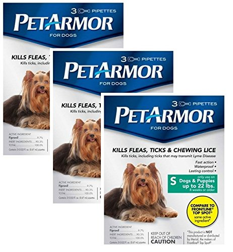 Pet Armor Flea Treatment for Dogs to 22-lbs - 9 month supply
