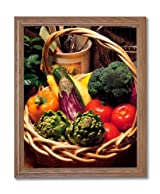 Peppers Tomatoes Kitchen Home Decor Wall Picture Oak Framed Art Print