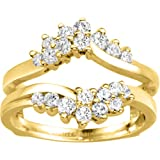 Ring Guard Enhancer set in 10k Yellow Gold (0.66 CT. Diamonds G-H Color I2-I3)