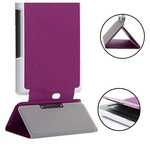 Kindle Paperwhite 6 インチ ケース ,FyyR 高級PUレザーケース Kindle Paperwhite 6インチ 専用PUレザーケース オートスリープ/スタンド機能付き マグネット開閉式 パープル