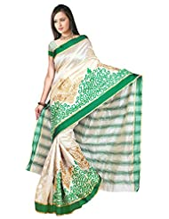 Aarzoo Dezigners Women's Kora Silk Saree (Gt01IN, Off White)