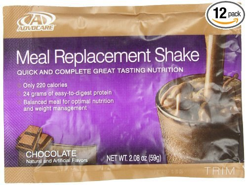 Advocare Meal Replacement Shakes, Chocolate, 14 Pouches 2.08 oz