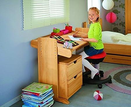 BioKinder 22811 Julia Spar-Set Kinderschreibtisch und Rollcontainer aus Massivholz Erle