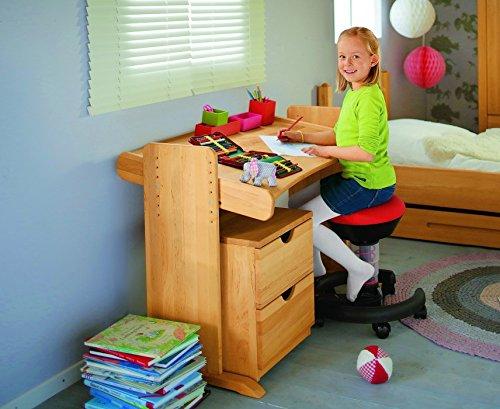 BioKinder-22811-Julia-Spar-Set-Kinderschreibtisch-und-Rollcontainer-aus-Massivholz-Erle