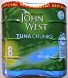 John West Tuna Chunks in Brine - 8 x 200gm