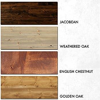 Rustic Reclaimed Wood Style Platform Bed Frame