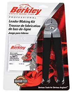 Berkley Leader Marking Kit with Crimpers and Wire Leader Sleeves, Size-3, Black