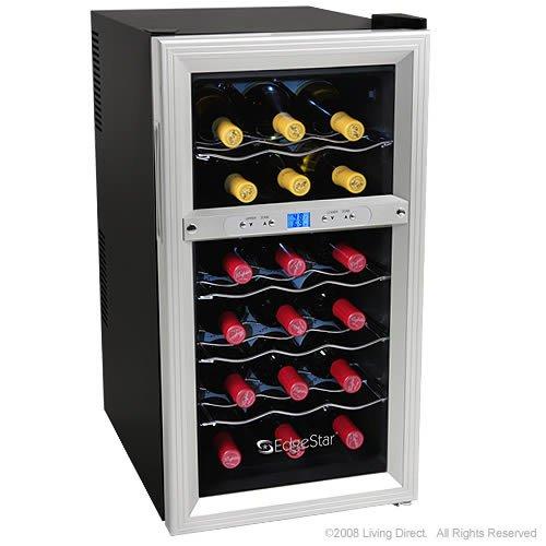 18 Bottle Dual Zone Wine Cooler - Digital Control