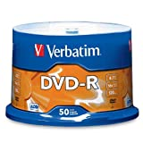 Verbatim 4.7 GB up to 16x Branded Recordable Disc AZO DVD-R 50-Disc Spindle 95101 ~ Verbatim