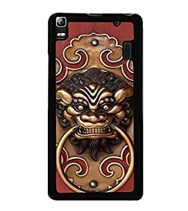 Fuson Premium 2D Back Case Cover Fierce Bull With Pink Background Degined For Lenovo A7000