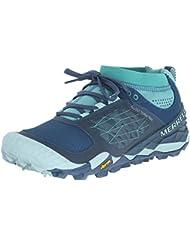 Merrell Women S All Out Terra Trail Trail Running Shoe Blue/Aqua 7 B(M) US