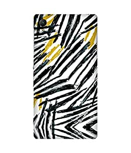 Black Yellow Strokes Sony Xperia Z1 Printed Back Cover