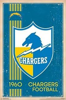 San Diego Chargers - Retro Logo 2014 NFL 22x34 Art Print Poster