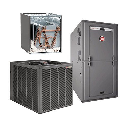4 Ton 16.5 Seer Rheem / Ruud 100,000 Btu 96% Afue Gas System RARL049JEC -RCFLHM4821- R96VA1002521MSA (Gas Furnace Upflow Rheem compare prices)