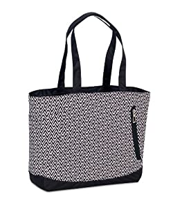 High Sierra Shelby Zigzag Tote (16 x 14 x 5-Inch, Black/White)