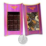 Chocholik Belgium Chocolate Gifts - Bittersweet Combo Of Chocolate Bars With 5gm Pure Silver Coin - Diwali Gifts