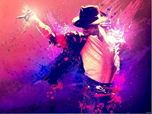 [Bestweeks Michael Jackson Home Decoration Wall Sticker Print Stylish Retro Decor Nice Print Photo Poster 50*75 Cm] (Michael Jackson Decorations)