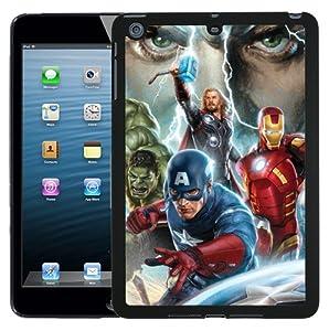 Apple iPad Mini Cool Avengers Marvel Case/Cover + Screen Protector - Black