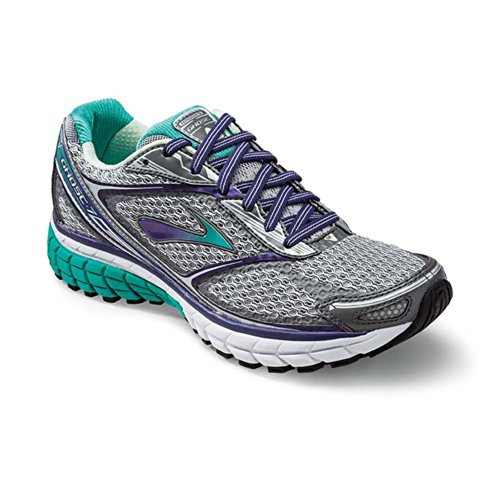 Brooks Women's Ghost 7, Color: Slvr/MulbryPrpl/PoolGrn, Size: 8.5