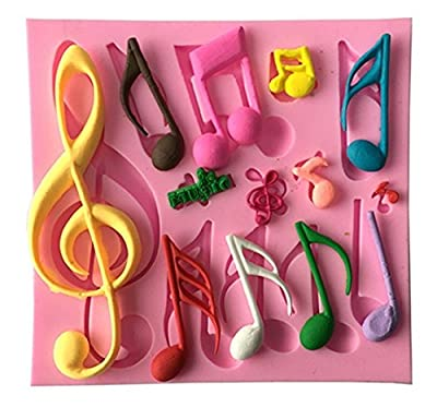 Candy Making Molds,Smozer® Silicone Decorating Candy Mold Cake Molds Musical Note Red