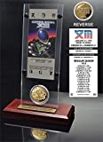 "NFL Pittsburgh Steelers Super Bowl 13 Ticket & Game Coin Collection, 12"" x 2"" x 5"", Black"