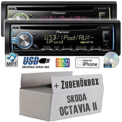 Skoda octavia 1Z 2-pioneer dEH-x3800UI-cD/mP3/uSB avec kit de montage
