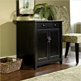 Sauder Edge Water Utility Cart/Free Standing Cabinet, Estate Black Finish thumbnail