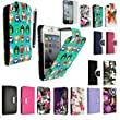 FOR APPLE IPHONE 4 4S VARIOUS PU LEATHER MAGNETIC FLIP CASE COVER POUCH + FREE STYLUS (Multi Birds Card Pocket)