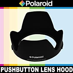 Polaroid Studio Series Lens Hood With Exclusive Pushbutton Mounting System - no more screwing around