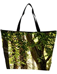 Snoogg Abstract Leaves In Tree Designer Waterproof Bag Made Of High Strength Nylon