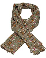 Cute Mini Owls in Love Animal Print Fashion Scarf -- SWANKYSWANS