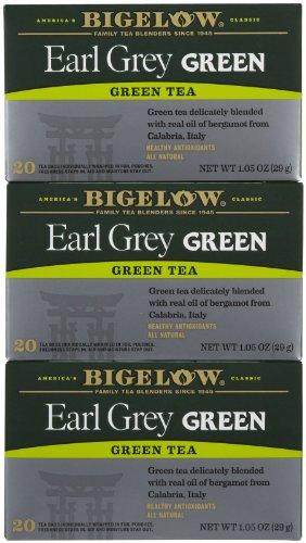 Bigelow Earl Grey Green Tea Bags, 20 Ct, 3 Pk
