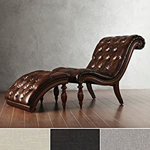 Brown leather chaise lounge chair with for Brown chaise lounge indoor