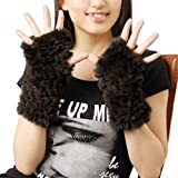 ラビット ファー 手袋(b-1102) (ブラウン)