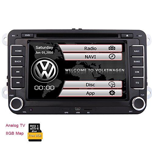 Doppia 2 din Nuova VW DVD KitKat sistema stereo di navigazione GPS Autoradio Bluetooth Headunit per VW Golf 5 6 POLO JETTA TOURAN EOS PASSAT CC TIGUAN SHARAN SCIROCCO Caddy + CANBUS Per controllo del volante + TV analogica